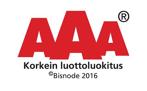AAA Korkein luottoluokitus - Maanrakennus J. Karell